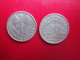 FRANCE = MONNAIE  DE  50  CENTIMES  DE 1944 C - G. 50 Centimes
