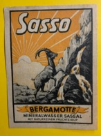 15479 - Sasso Bergamotte Mineralwasser Sassal Ancienne étiquette Bouquetin - Otros