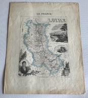 Carte Geographique De La LOIRE XIXe - Carte Geographique