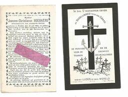 DD 130. JOANNES-CHRISTIANUS HOEBAERS - Burgemeester VEULEN - VEULEN 1802 / 1885 - Devotion Images