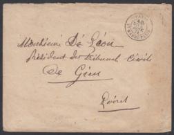 """France 1874  - Précurseur De Paris à Destination Gien. Lettre Non Affranchie  La Poste à Paris"""" ......   (VG) DC-7813 - France"""