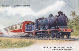 ABERDEEN & GLASGOW EXPRESS ~ LONDON, MIDLAND & SCOTTISH RAILWAY ~ CALEDONIAN SECTION Pu1935 - Trenes