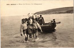 CPA Morgat- Retour Des Grottes,Le Debarquement FRANCE (1026487) - Morgat