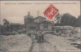 Mines De La Lucette , Le Genest , Les Bocards , Ancien Et Nouveau Moulin à Or , Enlèvement Des Tallings , Animée - Le Genest Saint Isle
