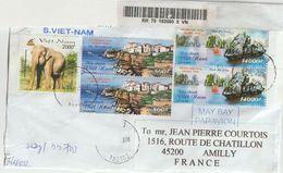 Vietnam .Recommandé Pour La France. Oiseaux.Birds Eléphant. Baie D'Ha-Long. Emission Commune Avec La France. Joint Issue - Vietnam
