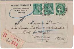 France - Lorraine - Carte Lettre Recommandée Pour Nantes - 29 Mai 1940 - Valentin Le Batard - Marcofilia (sobres)