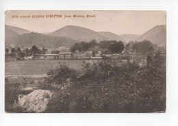 Hills Around  Church  Stretton  From  Watling  Street    -   Posted  1908 - Shropshire