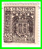FISCAL SELLO.AÑOS 1936-1939. VALOR 0.35 CENTIMOS DE  PESETAS *NUEVO* MUY RARO - Impuestos De Guerra