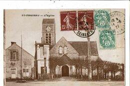 CPA-Carte Postale-France-Saint-Fargeau- L'église 1927 VM19773 - Saint Fargeau