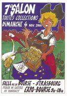 CPM GF  - 16291-67-Strasbourg Carte Salon Posta 2001-Création Originale Jean Risacher (tirage :1000ex.)-Envoi Gratuit - Collector Fairs & Bourses