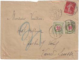 Vuitton - Asnières Sur Seine - Lettre Adressée à Monsieur Vuitton - Chexbres - Suisse - 6 Décembre 1904 - Marcophilie (Lettres)