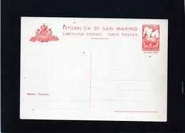 CG47 - San Marino - Cartolina Postale Lire 20 - Interi Postali
