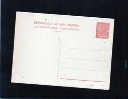 CG47 - San Marino - Cartolina Postale Cent. 30 - Interi Postali