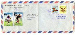 Nicaragua, Bühler Textil Letter Cover Posted 1972 B200725 - Nicaragua