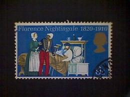 Great Britain, Scott #613, Used (o), 1970, Florence Nightingale, 9d - 1952-.... (Elisabetta II)