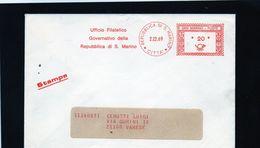 CG47 - 1969 San Marino - Busta Viaggiata - Cachet Rosso Lire 20 - Saint-Marin
