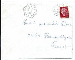 Cachet PRIZIAC - Morbihan - Sur Lettre 1969 - Handstempels