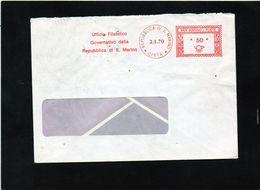 CG47 - 1970 San Marino - Busta Viaggiata - Cachet Rosso Lire 50 - Saint-Marin
