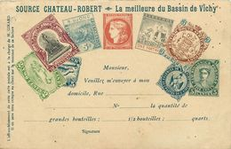 Dép 03 - Vichy - Timbres - Représentation - Publicité - Source Chateau Robert - La Meilleure Du Bassin - état - Timbres (représentations)
