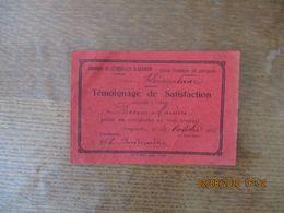 LESQUIELLES SAINT-GERMAIN ECOLE PUBLIQUE DE GARCONS TEMOIGNAGE DE SATISFACTION LE 10 OCTOBRE 1925 ACCORDE A L'ELEVE BRUN - Diploma & School Reports