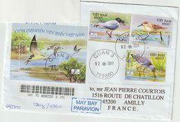 Vietnam .Lettre Pour La France. Oiseaux D'eau. Waders. - Vietnam