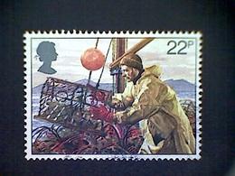 Great Britain, Scott #958, Used (o), 1981, Lobster Potting, 22p - 1952-.... (Elizabeth II)