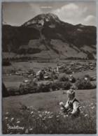 Bad Hindelang - S/w Ortsansicht 12    Allgäuer Alpen Mit Imberger Horn - Hindelang
