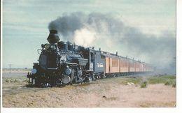 CPSM ,Th.Transp , N°B27, Streaking  Through Alamosa  ,Denver & Rio Grande 's Ten K28 Class Narrow Gauge...Ed.  RailCards - Trenes