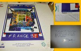 Coupe Monde FOOTBALL 1998, Affiche Ancienne RATP Nathalie Le Gall, Dédicace PDG Au Dos ; A 79 - Posters