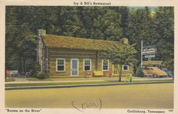 """GATLINBURG, Tennessee, 1930-40s; Ivy & Bill's Restaurant, """"Rooms On The River"""" - Autres"""