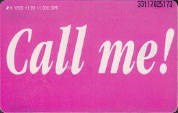 GERMANY K1809/93 L'tur - Last MInute Urlaub - Call Me 2 - Deutschland