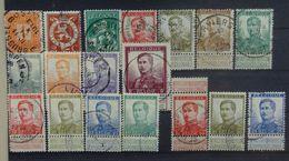 BELGIE 1912   Nr. 108 - 125   Pellens   Gestempeld   CW 95,00 - 1912 Pellens