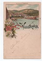 SOUVENIR DE VILLEFRANCHE (06) - CARTE TYPE GRUSS VOYAGEE EN 1898 - LA VILLE ET LE BASTION - Villefranche-sur-Mer