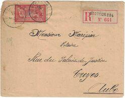 France - Aube - Troyes - Lettre Recommandée Militaire - Type Merson - Oblitération Militaire Secteur Postale 234 - 1918 - Marcofilia (sobres)