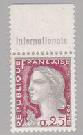 FRANCE : Decaris 0,25c Bande Pub INTERNATIONALE Neuf XX - Advertising
