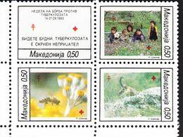 Macedonia 1993  Red Cross  Michel 50-53 AE  MNH 28363 - Cruz Roja