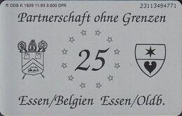 GERMANY K1829/93 25 Jahre Verbrüderung Essen/Oldb.  - Essen/Belgien - Deutschland