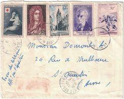 France - Gironde - Bordeaux - Bel Affranchissement - 17 Octobre 1956 - Marcofilia (sobres)