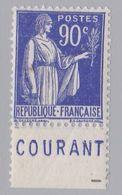 FRANCE : Paix 90c Bleu Bande Pub COURANT Neuf XX - Advertising
