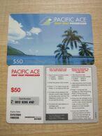 Pacific ACE Prepaid Phonecard, Seaside,used - Hongkong
