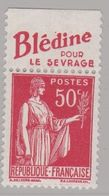 FRANCE : Paix 50c Rouge Bande Pub BLEDINE POUR LE SEVRAGE  Neuf XX - Advertising