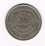 //  BURUNDI 10 FRANCS  1968 - Burundi