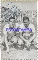 139397 ARGENTINA SPORTS SOCCER FUTBOL CAMPANA & BUSICO TEAN CHACARITA AUTOGRAPH PHOTO NO POSTAL POSTCARD - Sportler