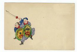 China Hand Painted Postcard. - Chine