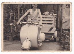 """MOTO SCOOTER  """" VESPA Con RIMORCHIO  """"  -  SCOOTER  - FOTO ORIGINALE 1958 - Cars"""