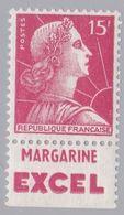 FRANCE : MULLER 15f Rouge Bande Pub MARGARINE EXCEL Neuf XX - Advertising