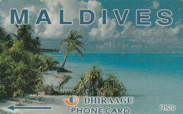 Maldives, 6MLDA, Coconut Palms, Maldives, 2 Scans - Maldiven