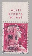 FRANCE : MULLER 15f Rouge Bande Pub ECRIT PROPRE ET NET  (o) - Advertising