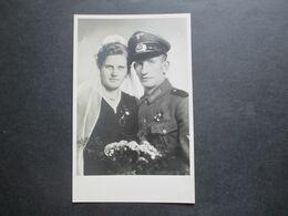 2.Weltkrieg Um 1940 Foto Junger Soldat / Bursche In Uniform / Hochzeitsfoto Hilbinger & Co. München - Krieg, Militär