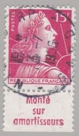 FRANCE : MULLER 15f Rouge Bande Pub MONTE SUR AMORTISSEURS (o) - Publicités